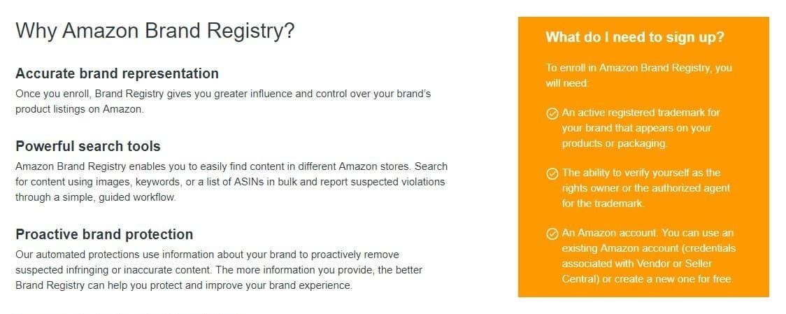 brand registry amazon seller central