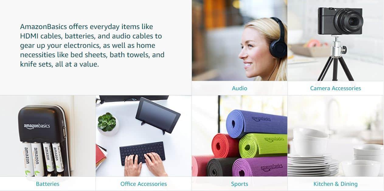 AmazonBasics website
